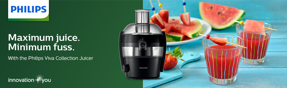 Philips Viva Collection Compact Juicer with QuickClean technology