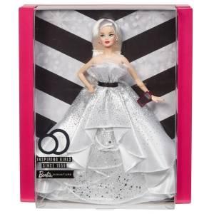 Barbie-60 Anniversario Vestito Bianco Bambola da Collezione per