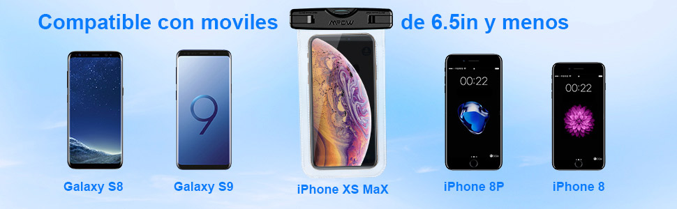 Mpow Funda Impermeable móvil, IPX8 Bolsa estanca móvil, ABS y ...