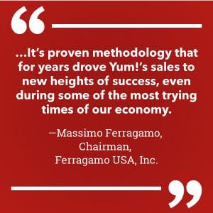Ferragamo USA, Yum Brands!, R.E.D. Marketing, KFC, Pizza Hut
