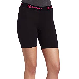 Canari Gel Liner Cycling Short Womens Black with Pink trim