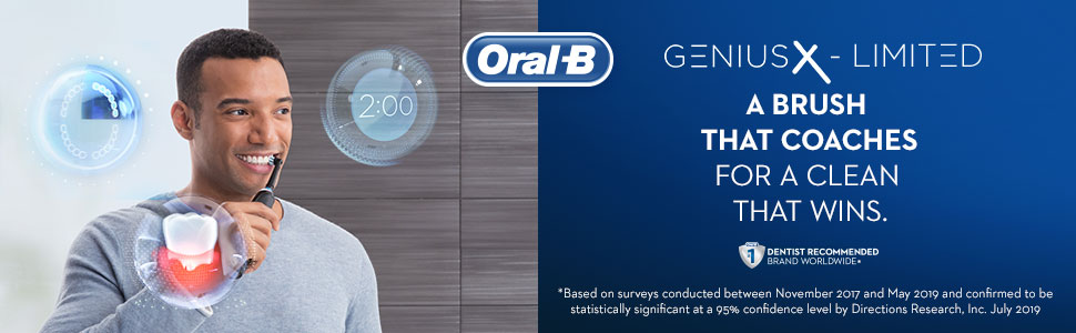 Oral-B Genius X-Limited a brush that coaches for a clean that wins