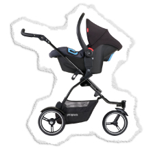 travel system stroller for 1 or 2 babys