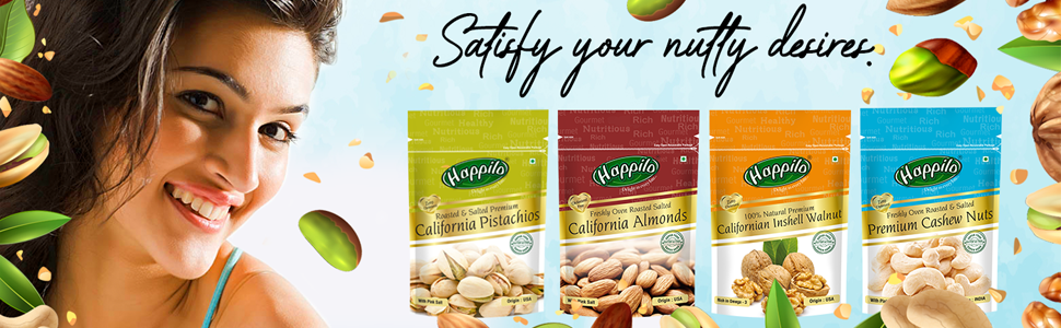 Happilo 100% Natural Premium Californian Almonds