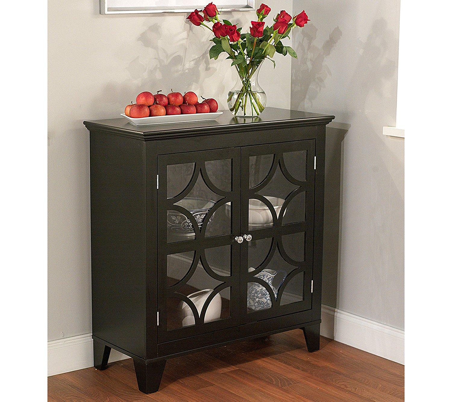 Kitchen Storage Cabinets With Glass Doors: Amazon.com: Target Marketing Systems Sydney Accent Storage