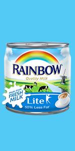 Rainbow Evaporated Milk Lite 170g