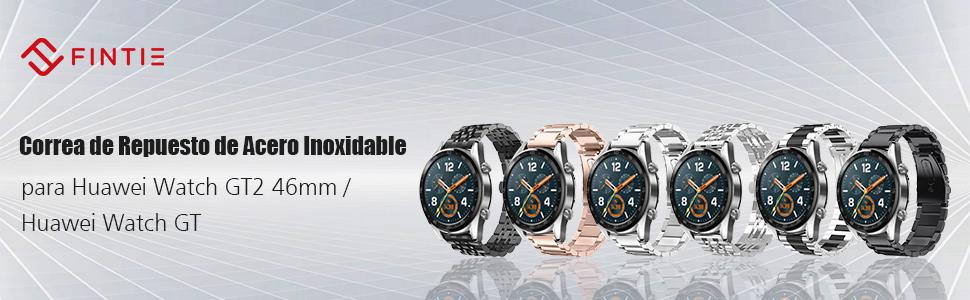 FINTIE Correa Compatible con Huawei Watch de metal