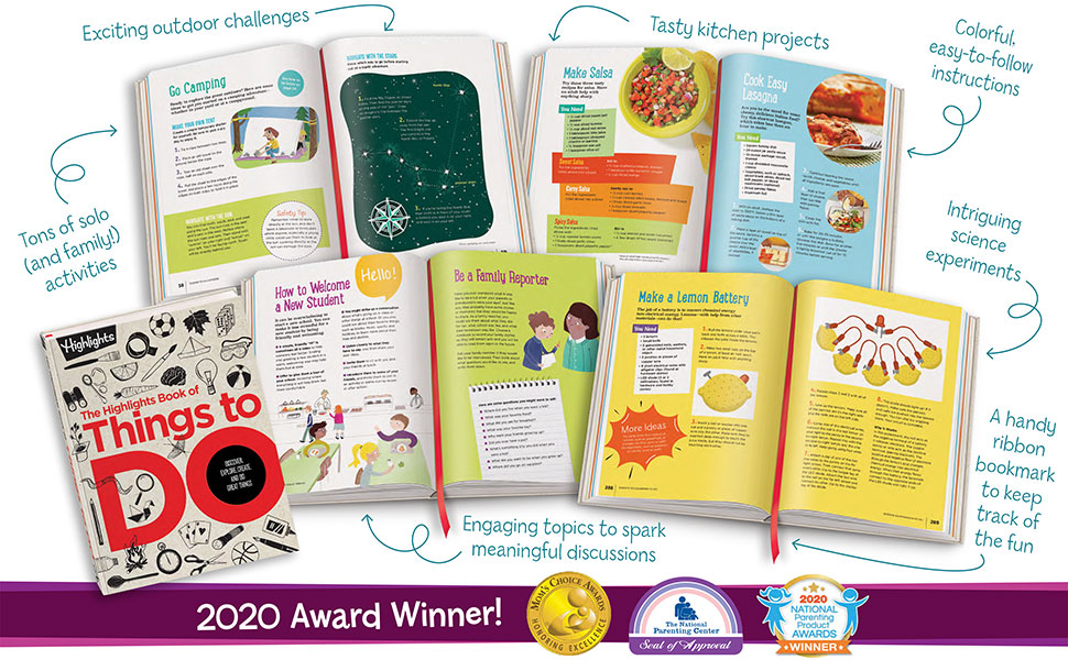 highlights, book of things to do, kids, children, entertainment, activities, fun, gifts, learning - The Highlights Book Of Things To Do: Discover, Explore, Create, And Do Great Things (Highlights Books Of Doing)
