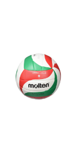 Molten VM4000 - Balón de Voleibol, Blanco, Rojo y verde, Talla 5 ...