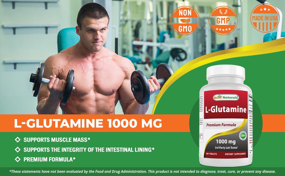 L-Glutamine 1000 mg 180 Tablets