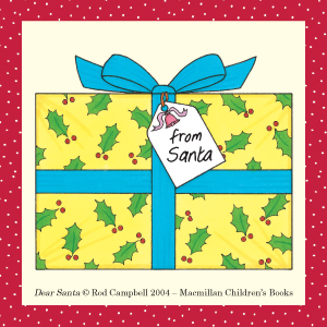 Rod Campbell, Dear Zoo, Santa, Christmas Book