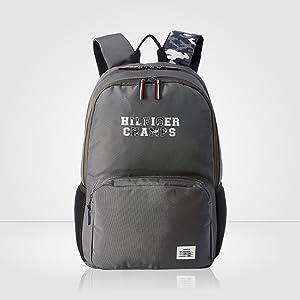 093c1fd7 Tommy Hilfiger Grey Casual Backpack (TH/BTSR07/TETO): Amazon.in ...