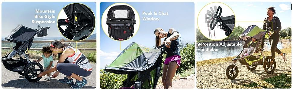bob flex jogging stroller, bob, spongebob, bob stroller, strollers, single stroller, fast stroller