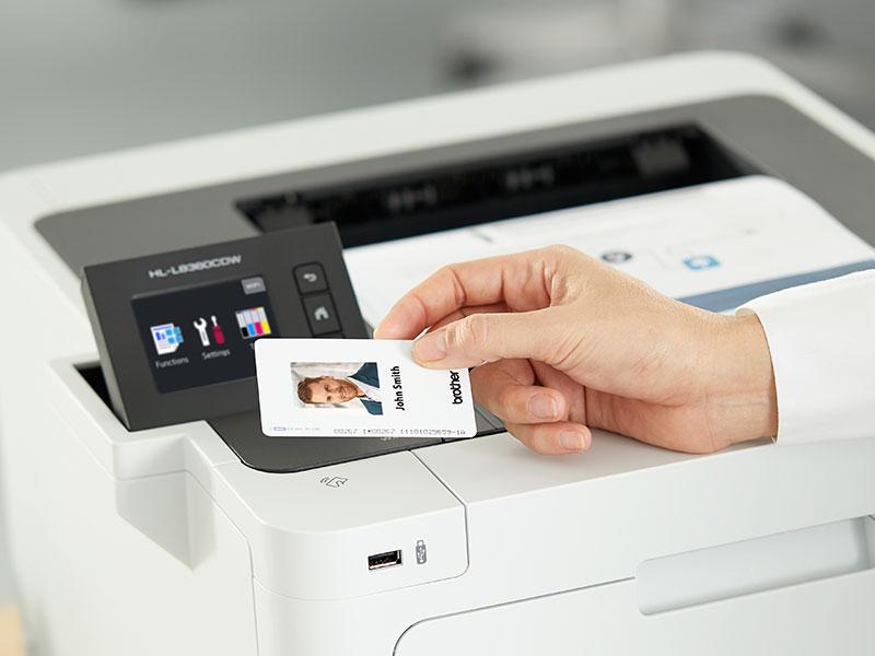 Brother Business Color Laser Printer, HL-L8360CDW, with Standard Yield Black Toner Bundle