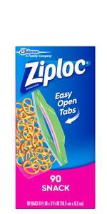 Ziploc स्नैक बैग