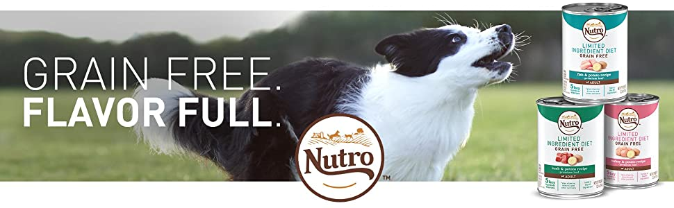 Nutro; Grain Free; Flavor Full; Flavorful; Nutrient-Rich; Recipes; Flavor; Wet Dog Food; Canned Food