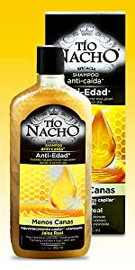 tío nacho, jalea real, rejuvenecer, capilar, shampoo, cabello, pelo, jalea real