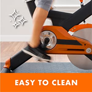 Easy to clean fitness equipment mat