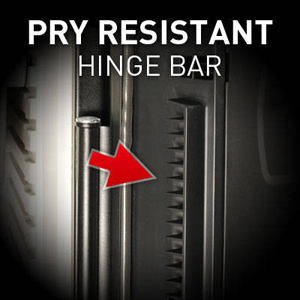 Pry Resistant Hinge Bar