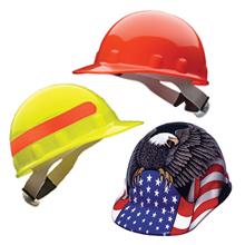 Hi-Viz hard hat, yellow hard hat, orange hard hat, bright hard hat