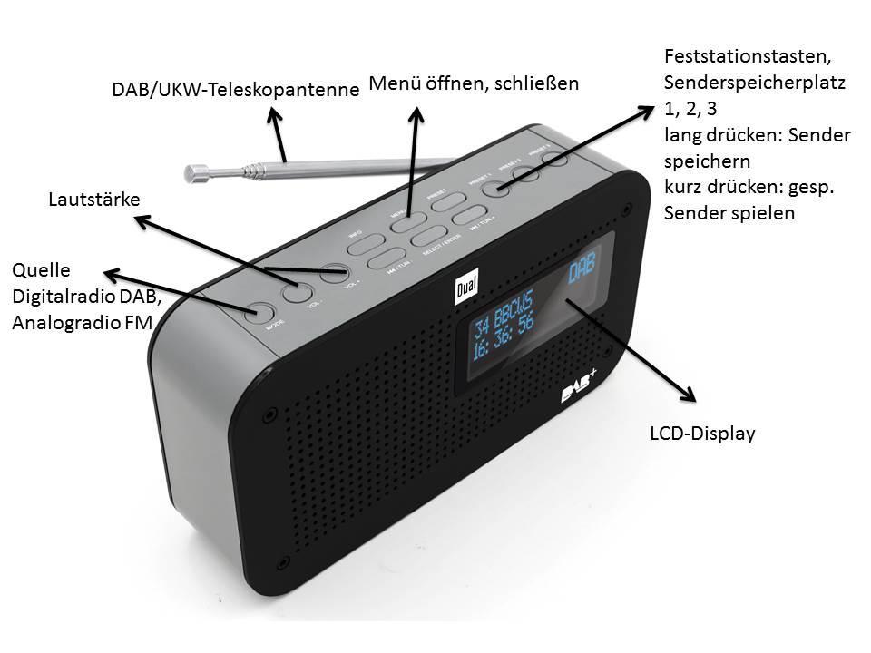 dual dab 71 portables digitalradio ukw dab tuner. Black Bedroom Furniture Sets. Home Design Ideas