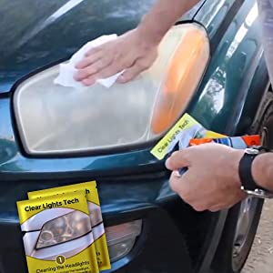 headlight restore, clean, wipe