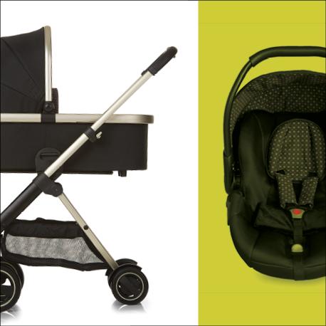 icoo 151556 acrobat kinderwagen xl plus trioset beige baby. Black Bedroom Furniture Sets. Home Design Ideas