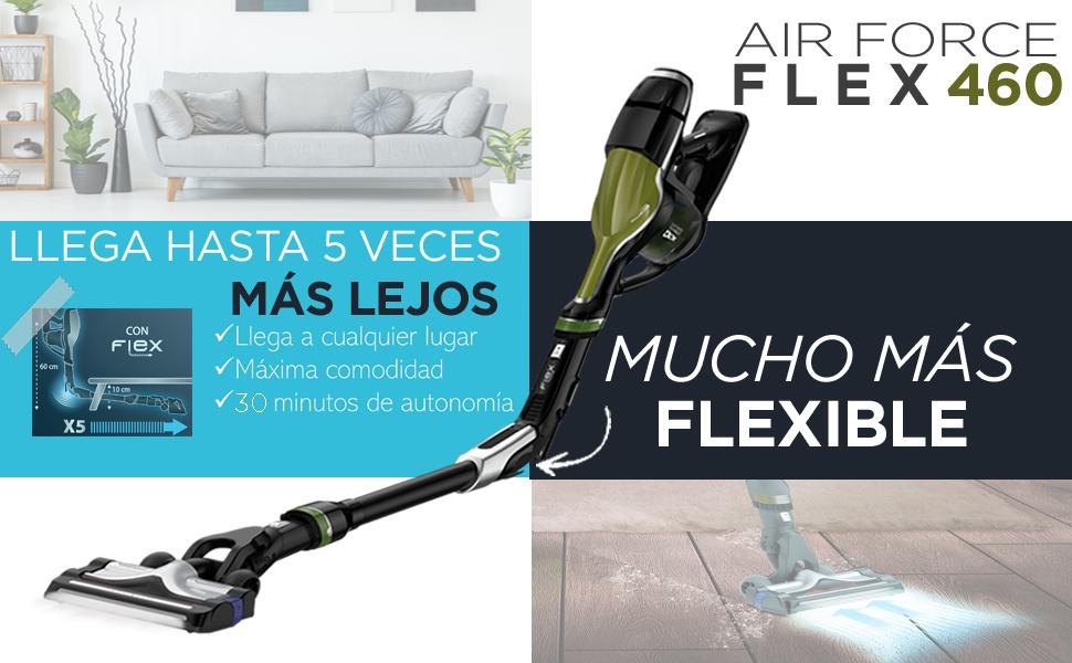 Rowenta Air Force 460 RH9292WO Aspiradora de mano sin cable con tubo flexible, hasta 30 min, accesorios para todas las superficies, pack boquillas y pack accesorios especial animales: Amazon.es: Hogar