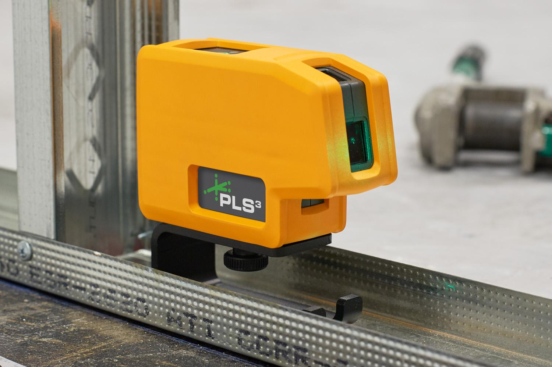 New Pls3 3 Point Green Beam Laser Level Pls 60595n By