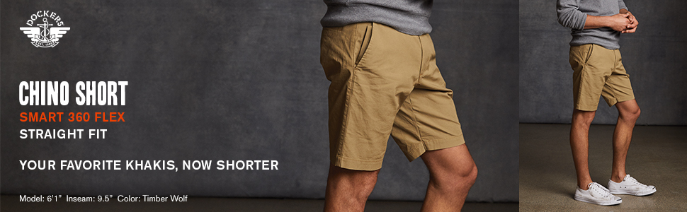 018020055ea2 Dockers Men's Straight Fit Chino Smart 360 Flex Shorts at Amazon ...