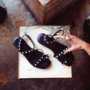 womens flat sandals heldore