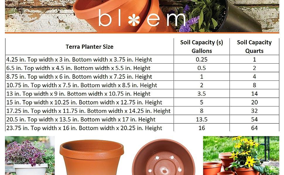 Bloem Terra Planters Planter Tray