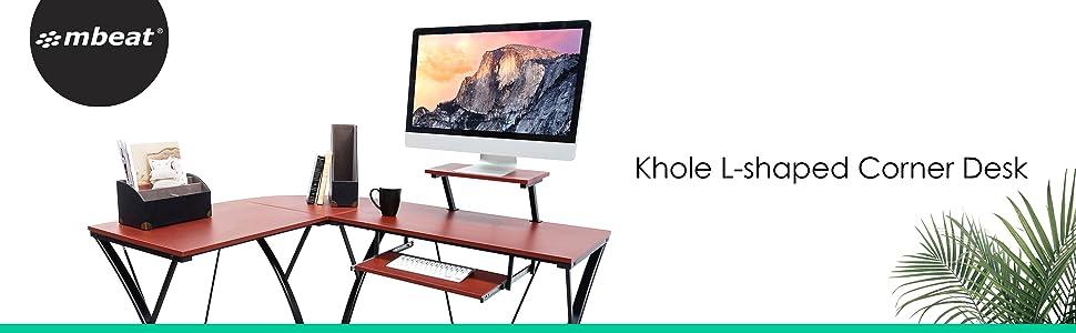 aca-cdk-3k mbeat activiva Khole L-shaped corner home office gaming computer desk work station