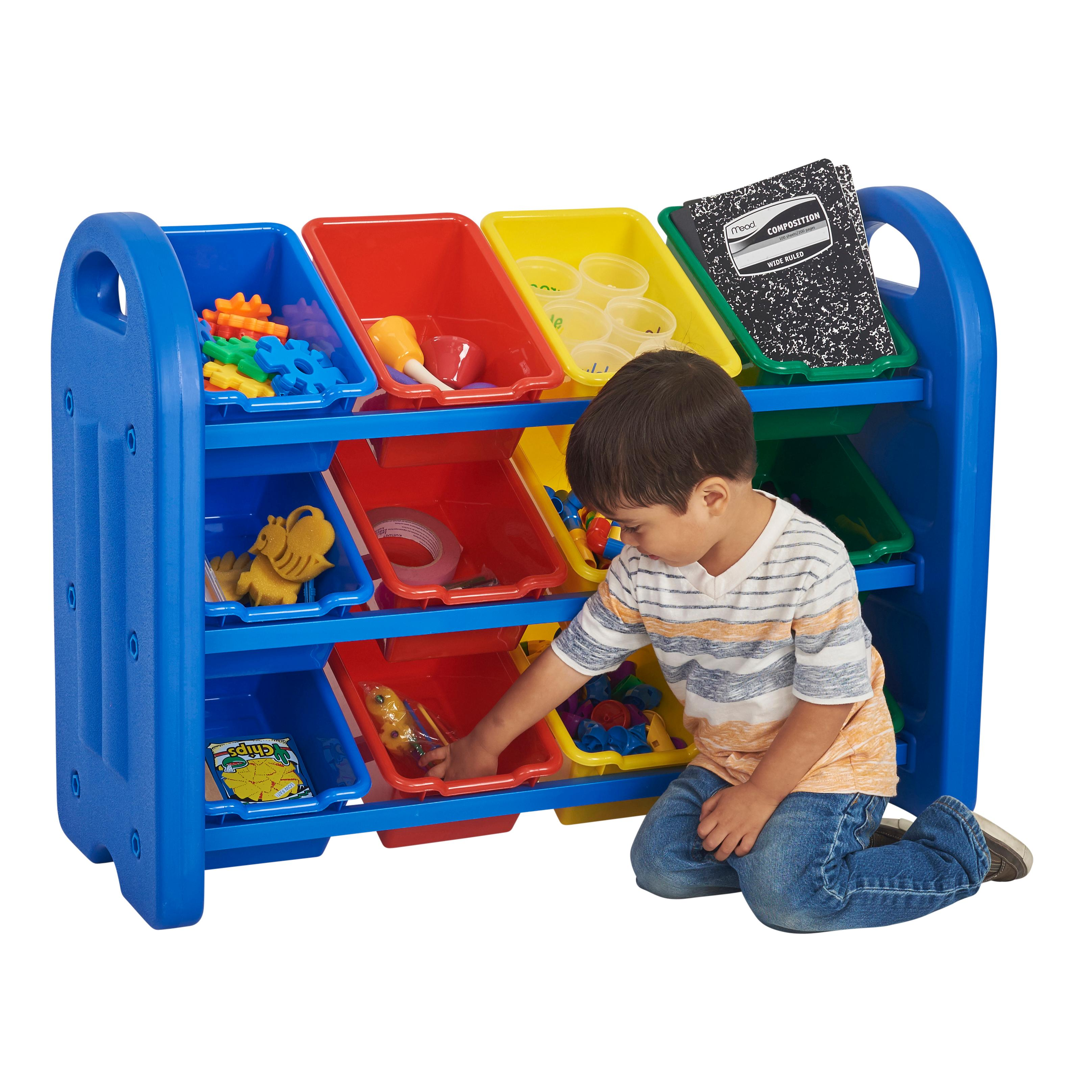 ecr4kids 3 tier toy storage organizer with 12 bins ecr4kids tools home improvement. Black Bedroom Furniture Sets. Home Design Ideas