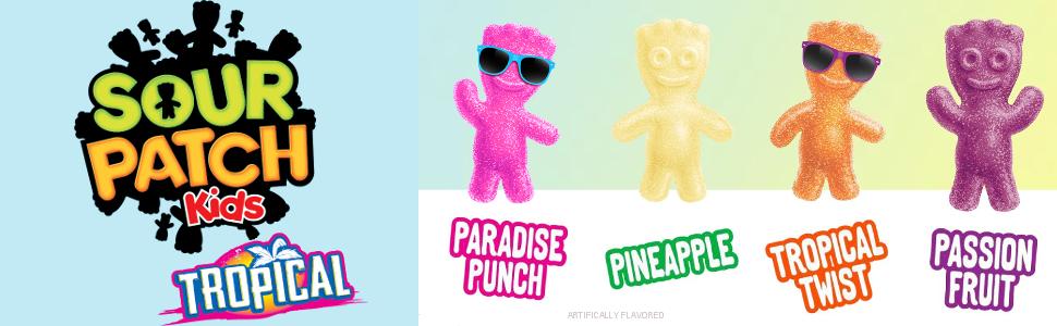 Sour Patch Kids Tropical Gummy Candy, 1 9 Pound Bulk Bag