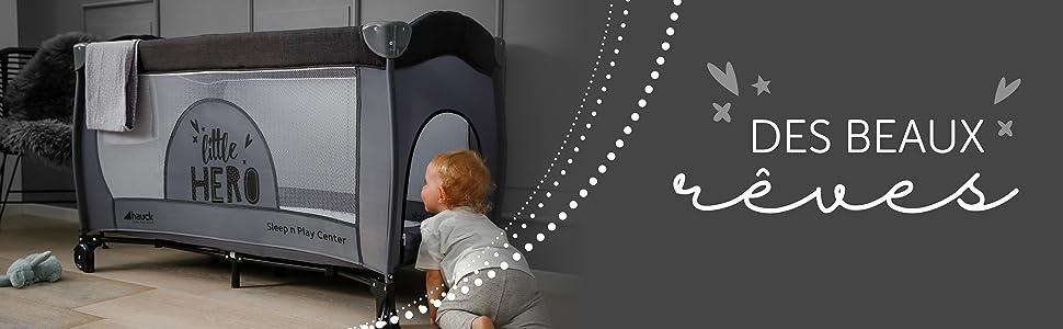 LIT PARAPLUIE hauck SLEEP´N PLAY CENTER bébé Aux anges partout nombreux d'accessoires