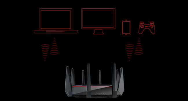 Amazon.com: ASUS RT-AC5300 AC5300 Router de juegos WiFi de ...