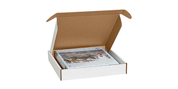 Deluxe mailers are available in both white and kraft