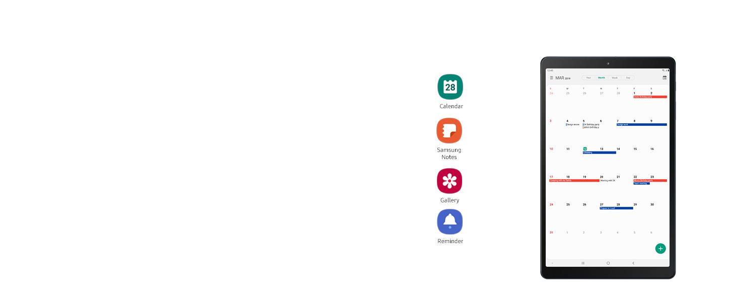 "Samsung Galaxy Tab A 10.1 (2019) Tablet, 10.1"" WUXGA, 32 GB Espandibili, Batteria 6150 mAh, Wi-Fi, Black [Versione Italiana]"