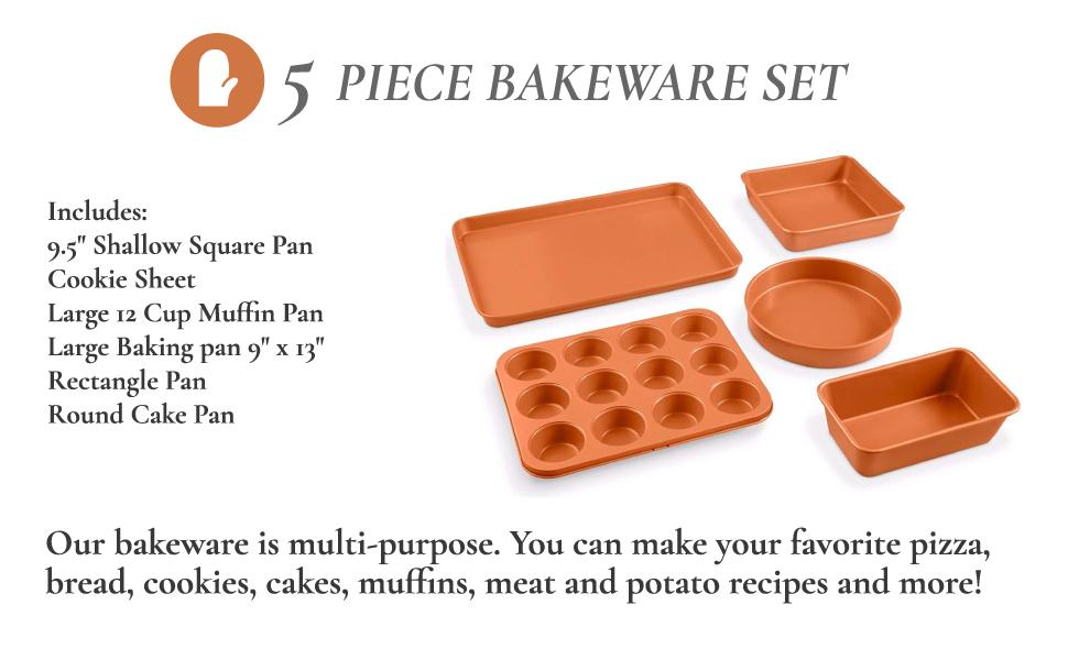 baking, gotham steel, non-stick, 20 pc set