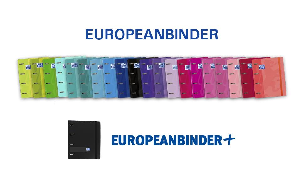 Carpeta con recambio Europeanbinder A4+ Oxford Touch color Ice ...
