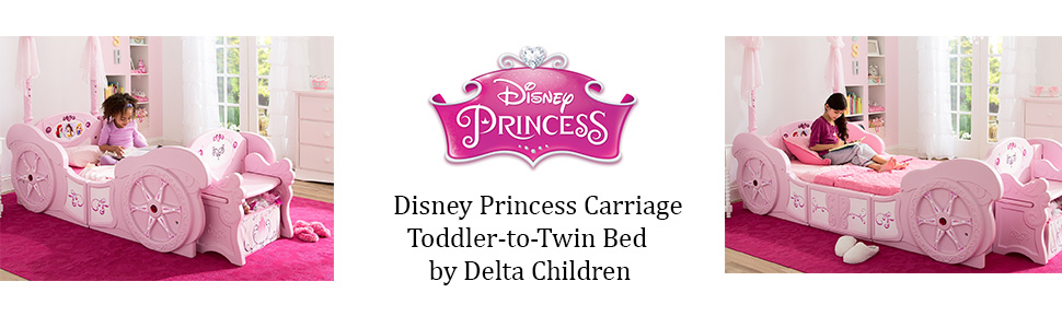 delta children disney princess carriage toddler to twin bed kids girls grow with me