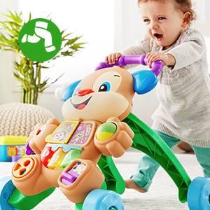 Fisher-Price Andador perrito primeros pasos, correpasillos bebé +6 meses (Mattel FRC85)
