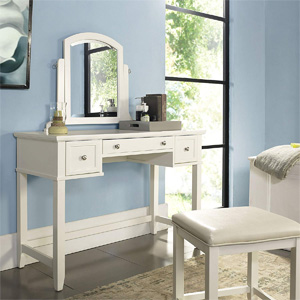 Outstanding Crosley Furniture Cf7007Ma Wh Vista Vanity Stool Mahogany With White Vinyl Seat Alphanode Cool Chair Designs And Ideas Alphanodeonline