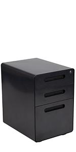 Flash Furniture Ergonomic 3-Drawer Mobile Locking Filing Cabinet