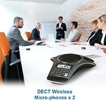 2 DECT Wireless mics