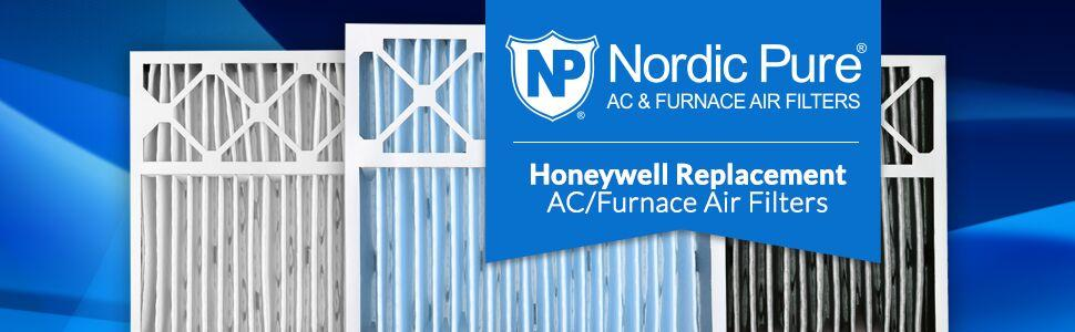 Nordic Pure 20x25x5 MERV 10 Honeywell Replacement Pleated AC Furnace Air Filter 4-3//8 Actual Depth Box of 4 20x25x5HM10-4