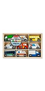 Amazon Com Melissa Amp Doug Wooden Vehicles And Traffic