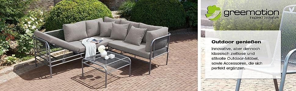 greemotion abdeckhaube f r stapelst hle schutzh lle in grau gartenm bel abdeckung. Black Bedroom Furniture Sets. Home Design Ideas
