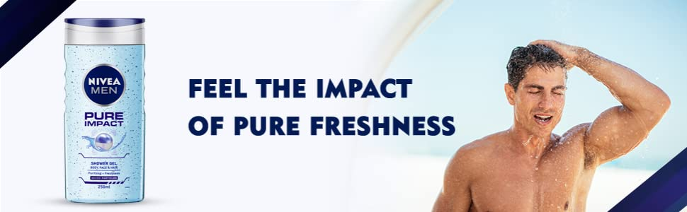NIVEA Men Pure Impact Shower Gel bottle